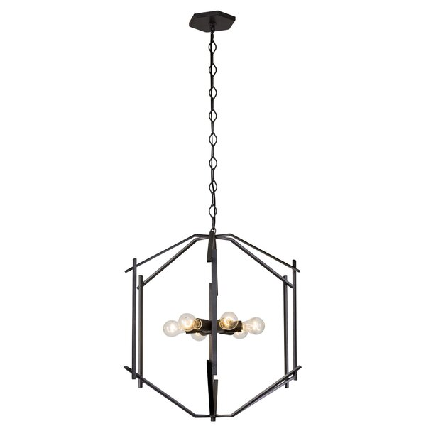 Cranford 6 - Light Lantern Geometric Chandelier By 17 Stories