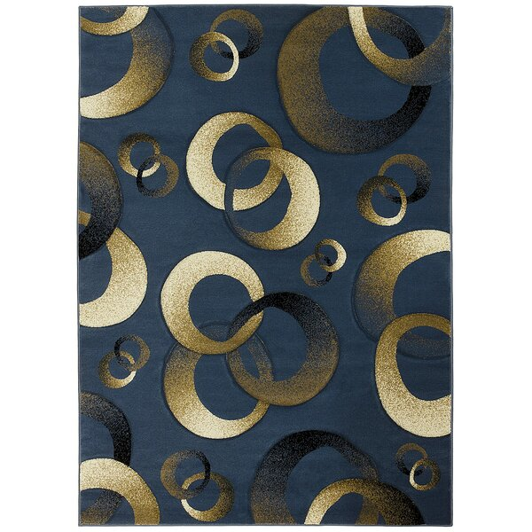 Aquinnah Hand-Carved Blue/Beige Area Rug by Latitude Run
