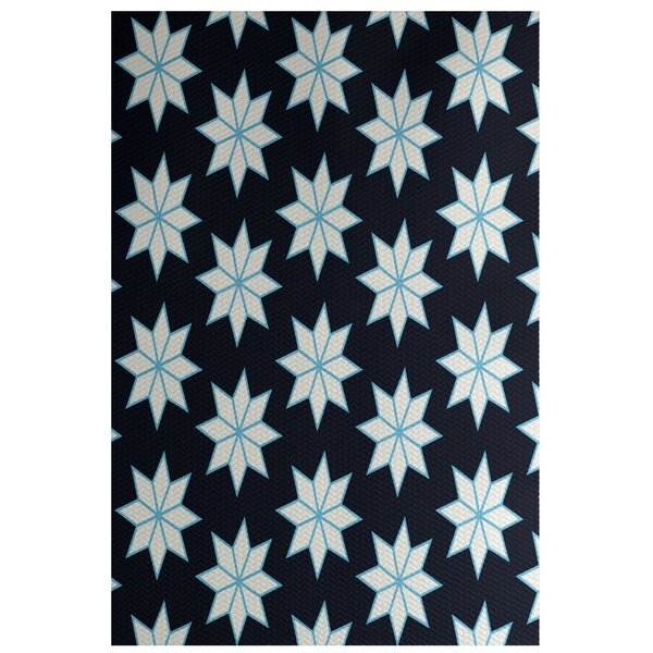 Christmass Geometric Blue Indoor/Outdoor Area Rug by The Holiday Aisle