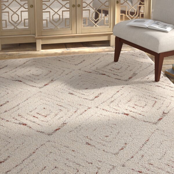 Chou Shag Cream Area Rug by Bungalow Rose