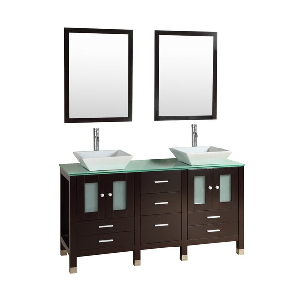 Port Lincoln 60 Double Bathroom Vanity Set with Mirror by Orren Ellis