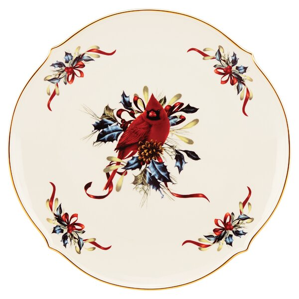Winter Greetings Round Platter by Lenox