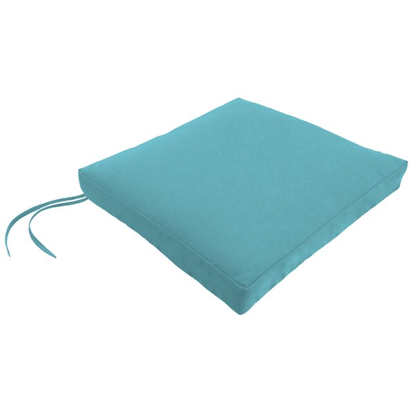 Indoor/Outdoor Square Dining Chair Cushion with Ties by Wayfair Custom Outdoor Cushions