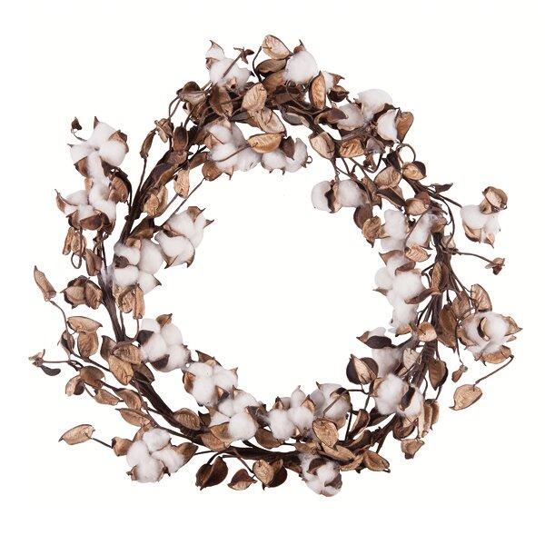 19.7 Cotton Wreath by Gracie Oaks