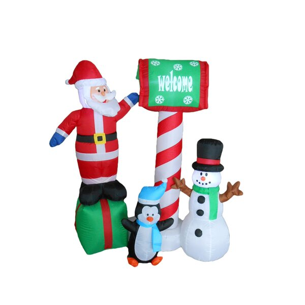 Santa, Penguin and Snowman Christmas Decoration by BZB Goods