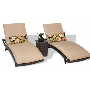 Bali 3 Piece Chaise Lounge Set with Cushion