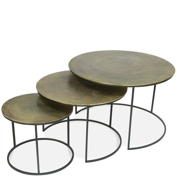 Linus 3 Piece Nesting Tables by 17 Stories