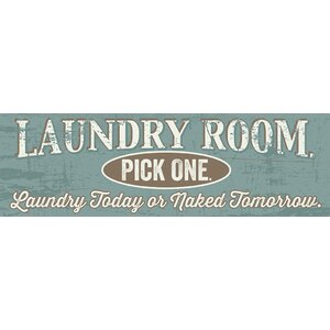 'Laundry Room' Textual Art on Plaque by Andover Mills