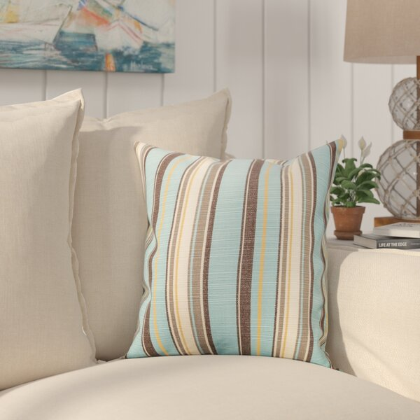 Reynolds Canvas Sunbrella Throw Pillow by Rosecliff Heights