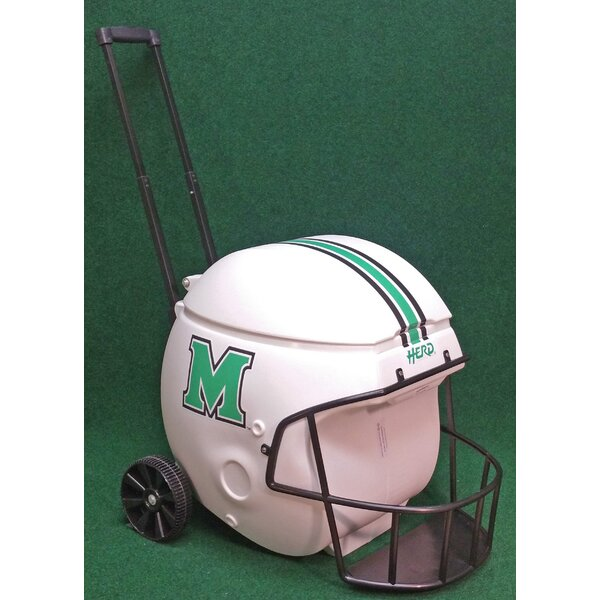 40 Qt. Marshall Thundering Herd Football Helmet Rolling Cooler by Coolr Coolrz
