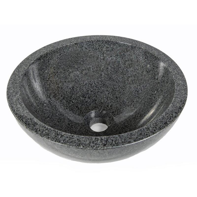 Edenbath Stone Circular Vessel Bathroom Sink Wayfair Ca