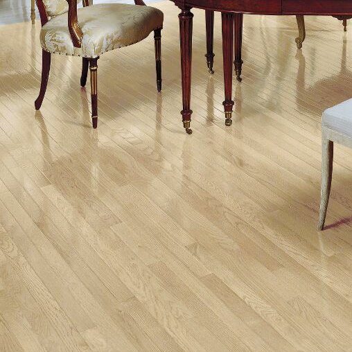 Fulton 2-1/4 Solid White Oak Hardwood Flooring in Winter White by Bruce Flooring