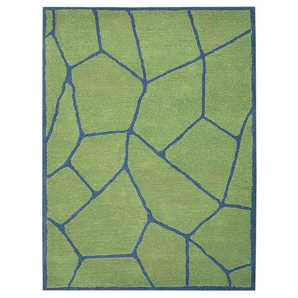 Freida Hand-Tufted Green/Blue Area Rug by Brayden Studio