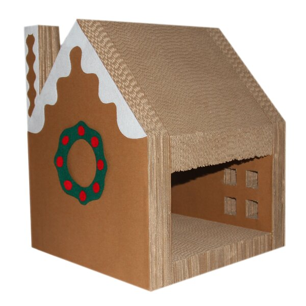 Dalton Christmas Cat House with Scratcher Lounger by Tucker Murphy Pet