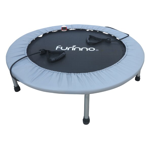 Trampoline with Monitor and Resistance Tube by Furinno