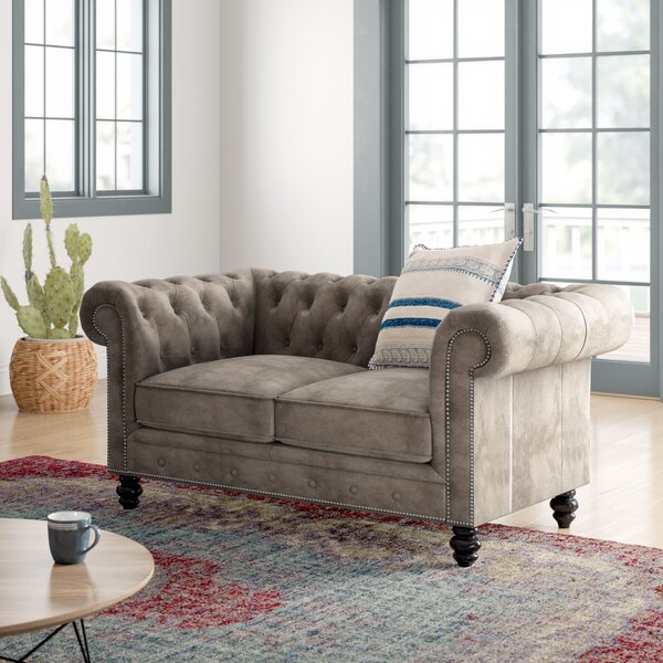Offers Saving Brooklyn Chesterfield Loveseat by Mistana by Mistana