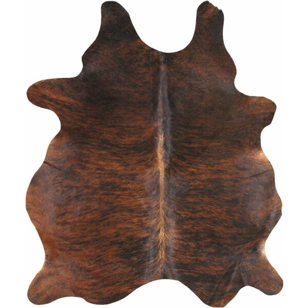 Santiago Cowhide Brown Area Rug by Loon Peak