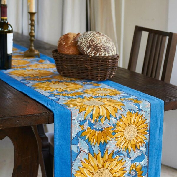 Sunflower Table Runner by Couleur Nature