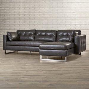 5West Leather Sofa Sunpan Modern