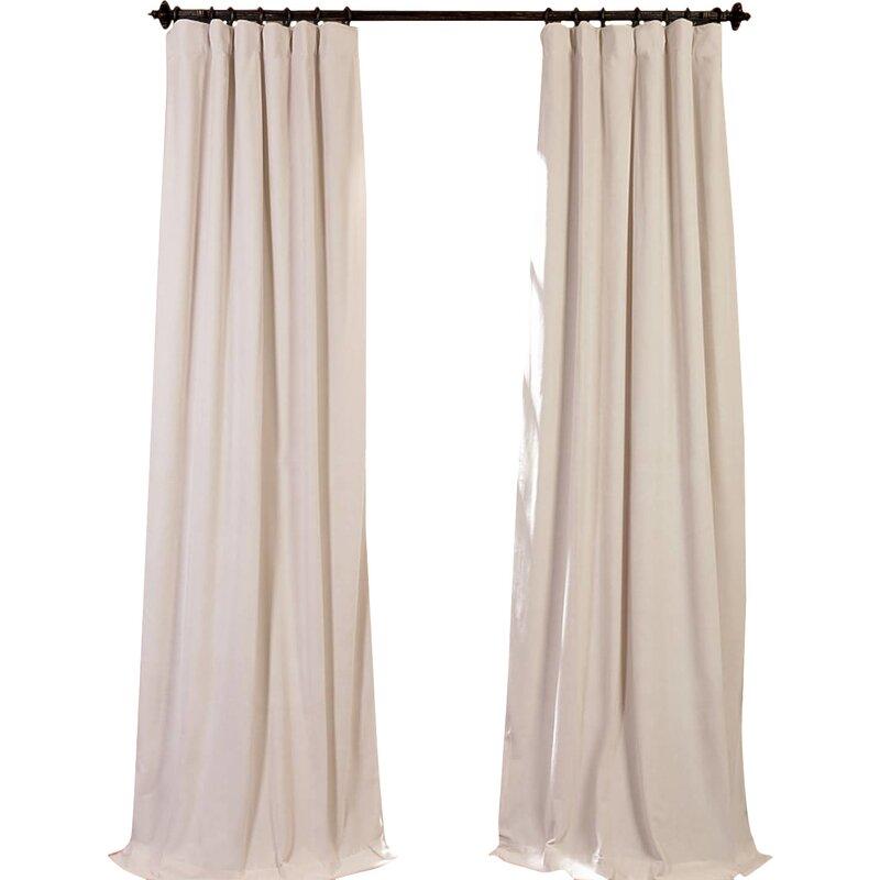 Blackout Thermal Rod Pocket Single Curtain Panel