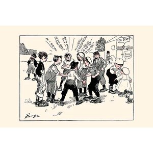 'Electing a Football Captain' by Clare Briggs Graphic Art by Buyenlarge