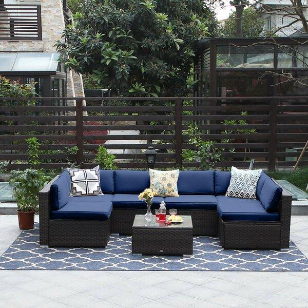 Ericson 7 Piece Rattan Sofa Set by Bay Isle Home