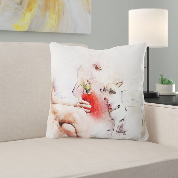 Monterrey Girl Throw Pillow