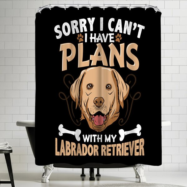 Wonderful Dream Labrador Retriever Dog Shower Curtain by East Urban Home