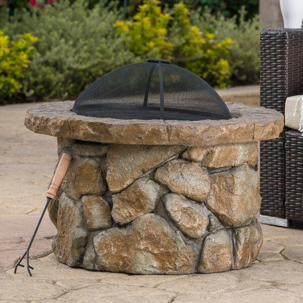 Wilmot Concrete Wood Burning Fire Pit by Darby Home Co