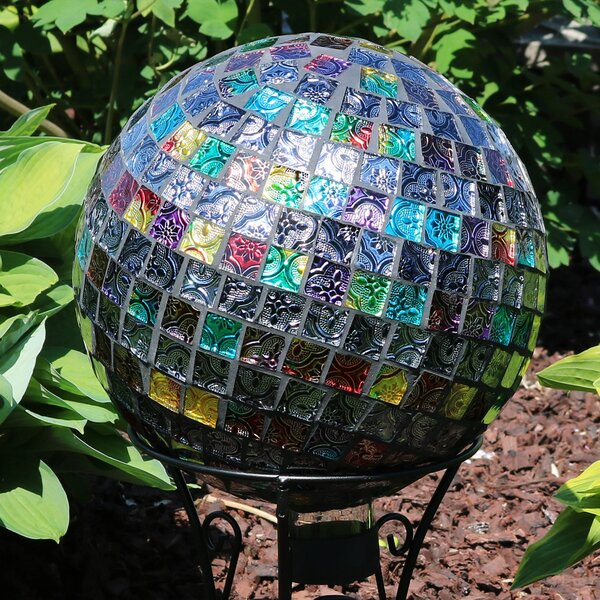 Nix Tiled Mosaic Outdoor Gazing Globe by World Menagerie