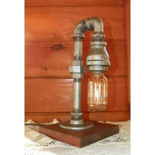 Read Reviews Haynie Industrial Little Edison  12 Arched Table Lamp By Williston Forge