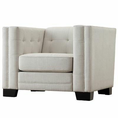 Rolland Square Tufted Upholstered Arm Chair by Mercury Row
