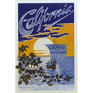 'California Travel' by Public Domain Vintage Advertisement on Wrapped Canvas by Buy Art For Less