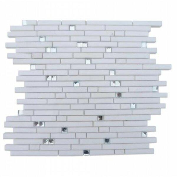Fable Random Sized Marble Mosaic Tile in Rabbit by Splashback Tile