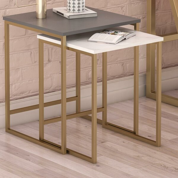 Scarlett 2 Piece Nesting Tables By CosmoLiving By Cosmopolitan