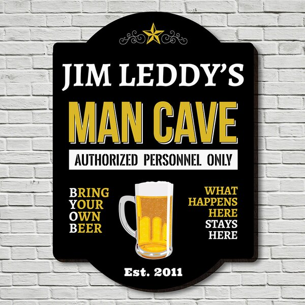 Man Cave Personnel Sign Wall Décor by Home Wet Bar