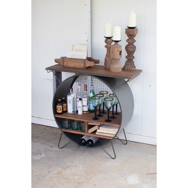 Casper Round Metal Console Table by Gracie Oaks