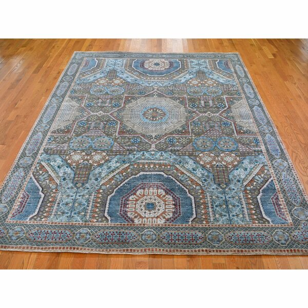 One-of-a-Kind Hand-Knotted Blue 8'2 x 10' Area Rug