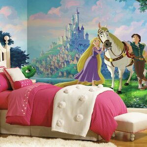 Disney Princess Tangled Chair Rail Prepasted Wall Mural Part 97