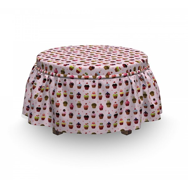 Yummy Cupcakes Ottoman Slipcover (Set Of 2) By East Urban Home