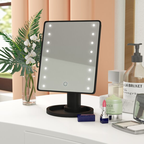 Dowdell 16 LED Beauty Make Up Rectangular Dresser Mirror by Ebern Designs
