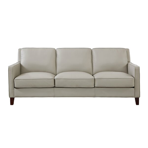 Dieman Leather Sofa By Latitude Run