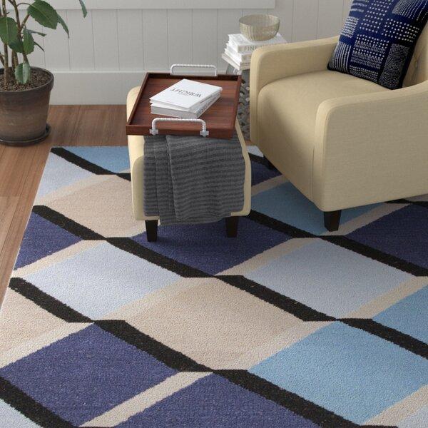 Lutz Blue/Gray Geometric Area Rug by Winston Porter