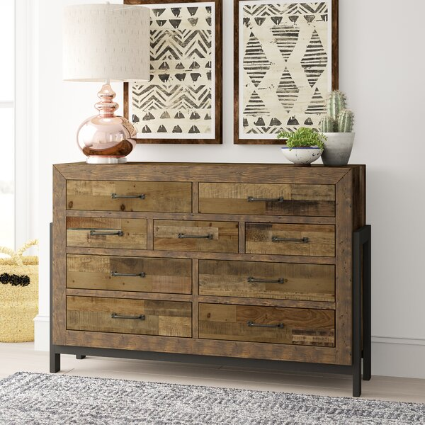 Gino 9 Drawer Standard Dresser/Chest by Mistana