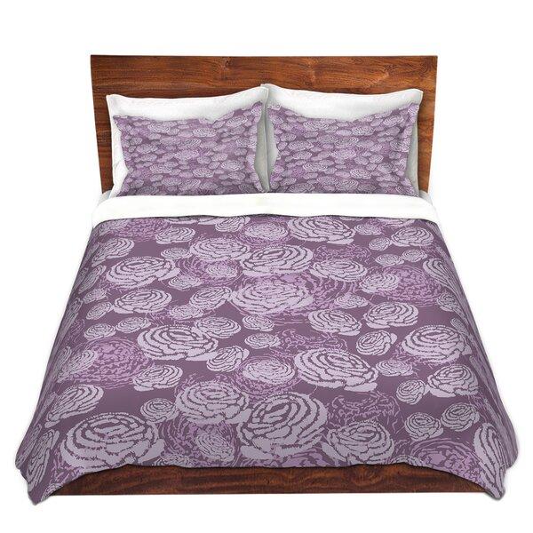 Winstead Metka Hiti Flower Field Purple Microfiber Duvet Covers