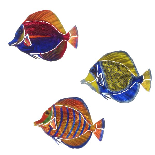 3 Piece Angelfish Wall Décor Set by Highland Dunes