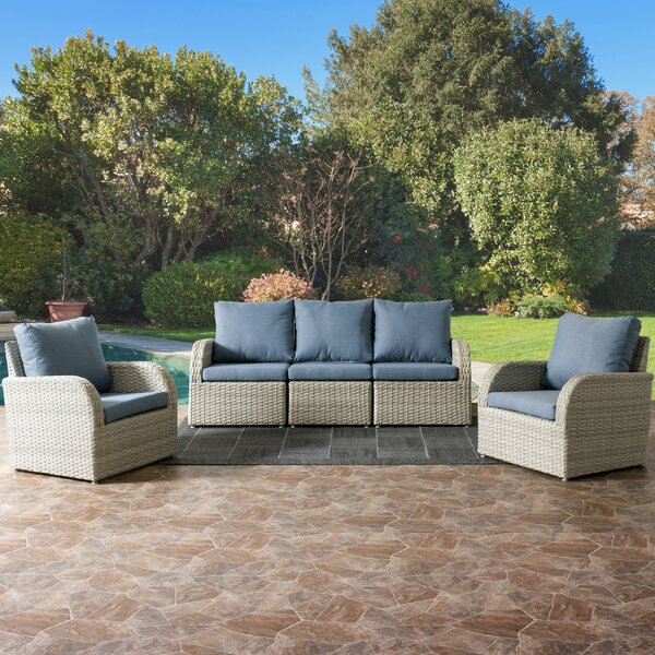 Killingworth 5 Piece Sectional Seating Group with Cushions by Rosecliff Heights