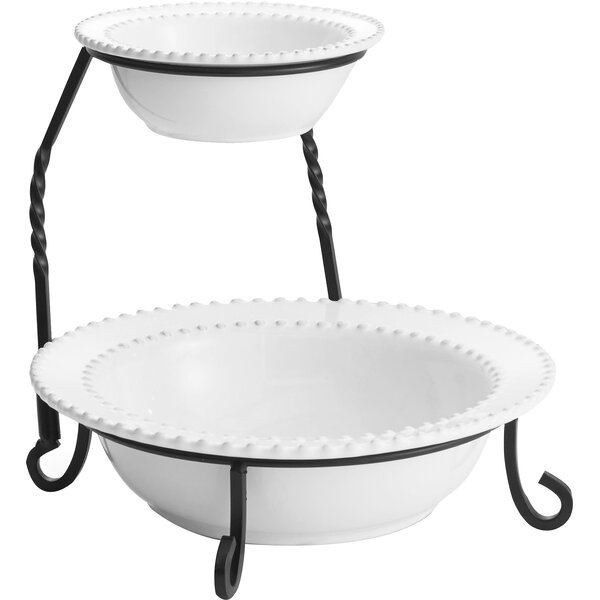 Bianca Bead 2 Tier Serving Tray by Design Guild