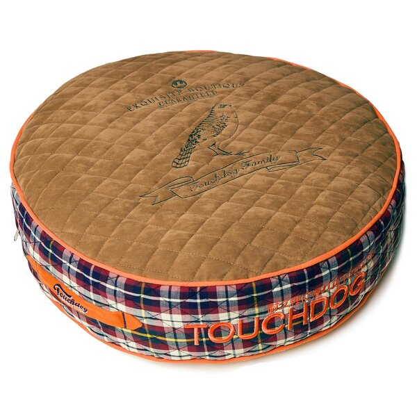 Bark-Royale Posh Rounded and Raised Designer Fleece Plaid Dog Bed by Pet Life