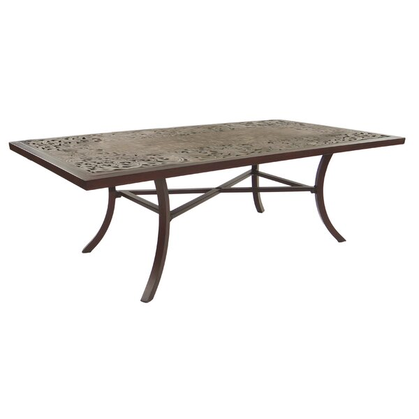 Breton Classical Aluminum Dining Table by Leona